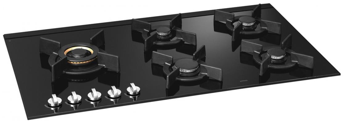 hg9611sba atag gas op glas kookplaat de beste prijs. Black Bedroom Furniture Sets. Home Design Ideas
