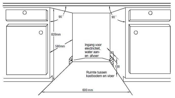 Standaard Afmetingen Inbouw Vaatwasser.Stuttgart1442ea Exquisit Volledig Geintegreerde Vaatwasser