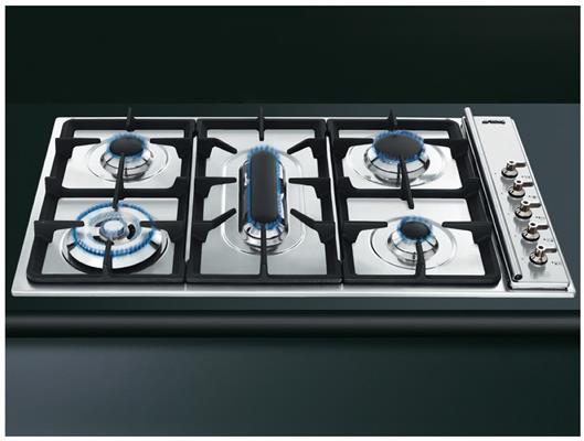 gkc95 3 smeg gas kookplaat de beste prijs. Black Bedroom Furniture Sets. Home Design Ideas