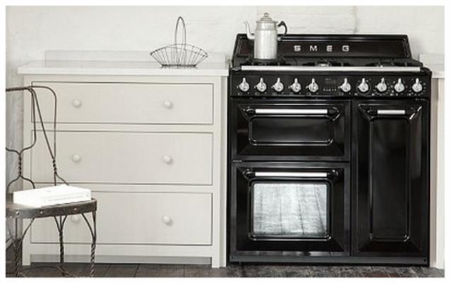 Zwart Keuken Fornuis : Tr nnlk smeg gas fornuis de beste prijs apparatuur